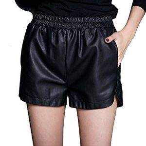 Brand new Yming leather shorts